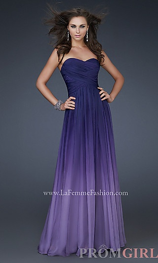 Long Strapless Ombre Gown by La Femme 17004 at PromGirl.com http://www.promgirl.com/shop/dresses/viewitem-PD747298