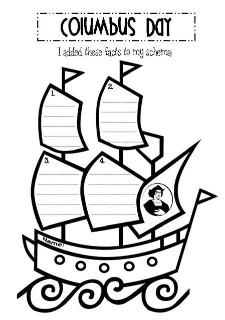 Columbus Day activities:  FREE Columbus Day fact worksheet. Cute graphic organizer.