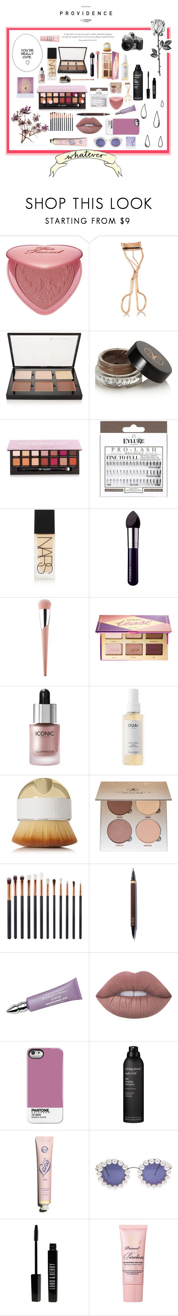 """""""Flowers Makeup"""" by theclairebeauty ❤ liked on Polyvore featuring beauty, Too Faced Cosmetics, ZOEVA, Charlotte Tilbury, Anastasia Beverly Hills, eylure, NARS Cosmetics, By Terry, Puma and tarte"""
