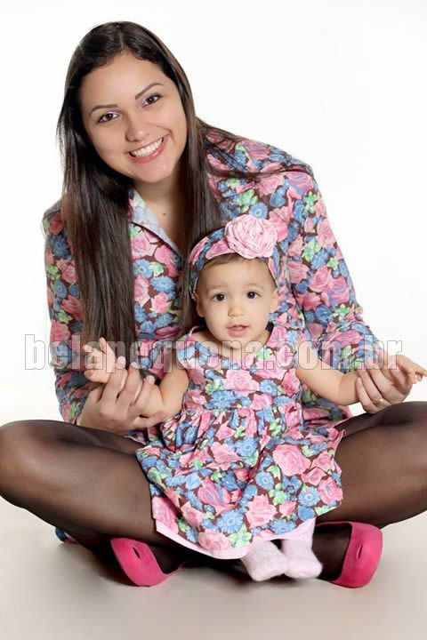 look tal mãe tal filha Roupas para bebês menina