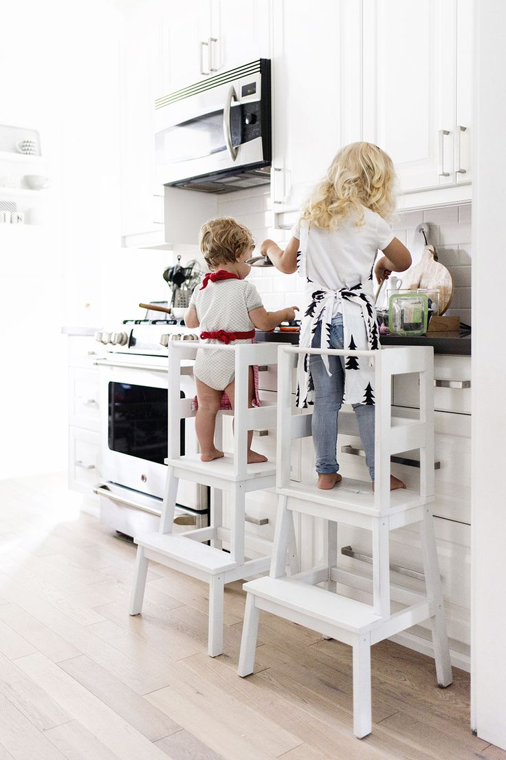 { IKEA hack } DIY learning tower using the inexpensive IKEA BEKVÄM stool - tutorial with loads of pictures + step-by-step instructions