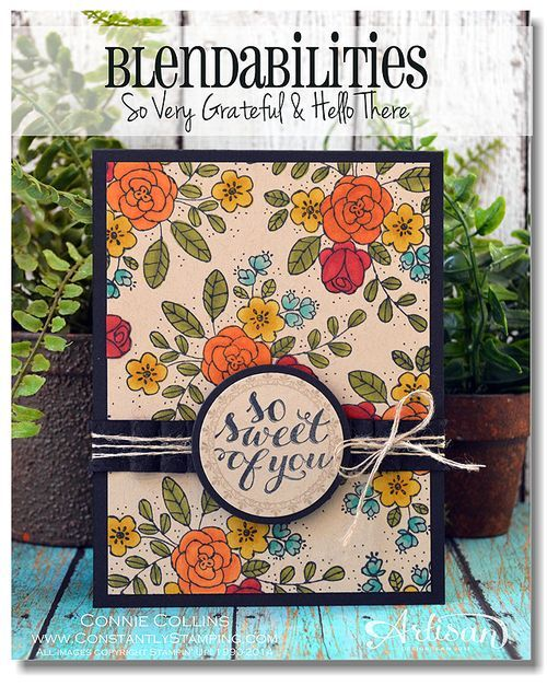 Love the bold colors from Stampin' BlendabilitiesCrumb Cakes, Stamp Sets, Cards Ideas, Alcohol Ink, Blendabilities Markers, Cake Cardstock, 2014 2015, Cake Connie Collins, Awwmay4001