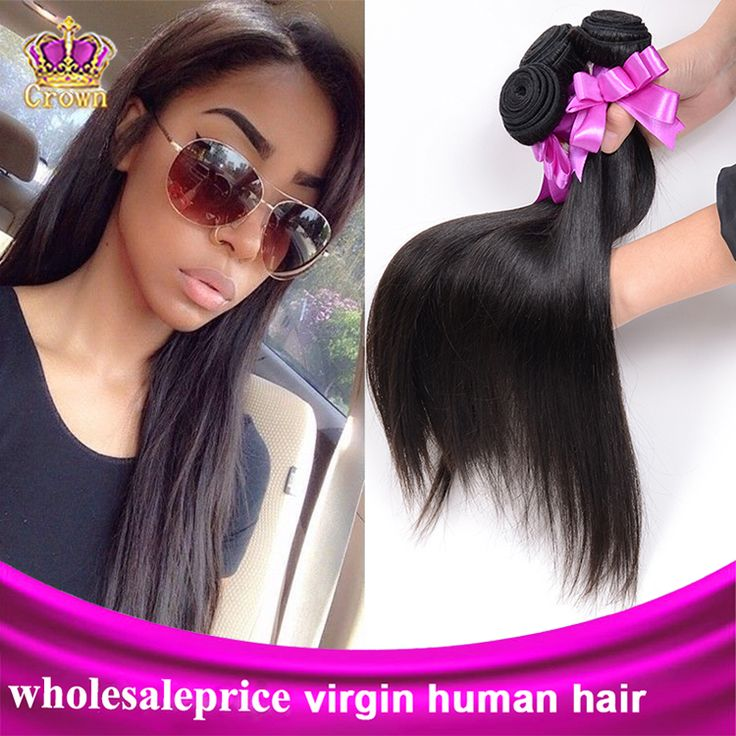 6A Indian Virgin Hair Straight 4pcs Virgin Indian Hair Weave Crown Hair Products No shed Cheap Human Hair Extension Straight