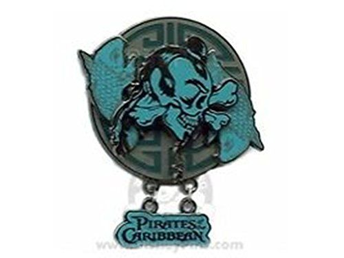 Disney PIRATES of the Caribbean at Worlds End  ASIAN SKULL  POTC Dangle Pin @ niftywarehouse.com #NiftyWarehouse #PiratesOfTheCarribbean #Pirates #Movies #Pirate
