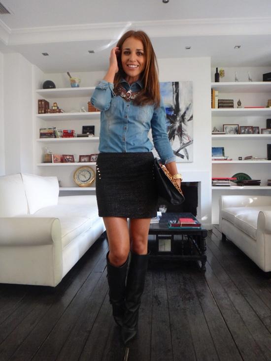 ¡Me chifla el look de Paula Echevarría en esta foto! Siempre sabe sacar partido a la elegancia con la ropa moderna :)