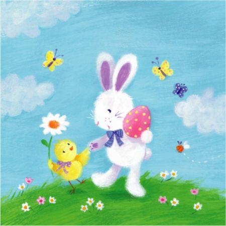 Melanie Mitchell - easter card , bunny , chick egg, mel mitchell.jpg