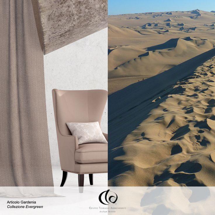 """Come resistere al caldo fascino di #Gardenia?  Tessuto Jacquard con motivo """"Chevronne"""": espressione di ricercatezza in grado di rendere l'ambiente unico e distintivo!  Visita il nostro sito www.ctasrl.com e scarica le nostre brochure su: http://bit.ly/1nhrLQM #tessuti #interiordesign #tendaggi #textile #textiles #fabric #homedecor #homedesign #hometextile #decoration"""
