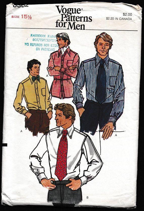Vogue 8362 Patterns für Männer Shirt und von OutoftheConex bei Etsy ...