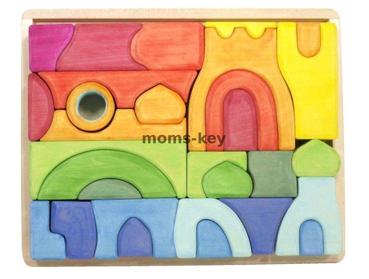Деревянный конструктор Купола (на поддоне) www.moms-key.ru