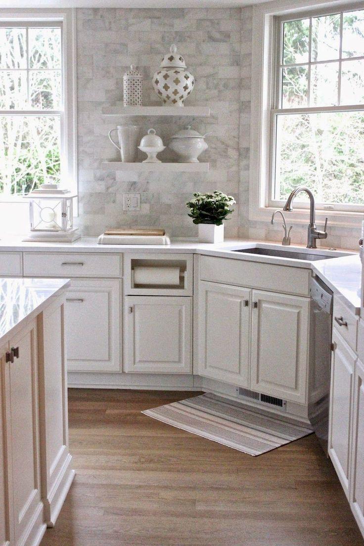 90 Design-Ideen für weiße Küchenschränke