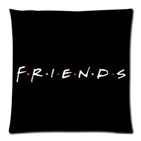 Friends TV Show Poster Pillowcase Covers Tow Sides Pillow Case With Zipper Size: 20\