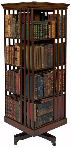 Revolving bookcase belonging to david scott mitchell for Read your bookcase buy