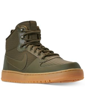 more photos c9611 2cdcb Nike Men s Ebernon Mid Winter Casual Sneakers from Finish Line - Green 9.5