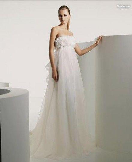 ウェディングドレス エンパイア WEDDING DRESS オーダードレス ビスチェ コートトレーン 花嫁ドレス 格安 披露宴 結婚式 二次会 LB0286=HS9845 価格 ¥34,650