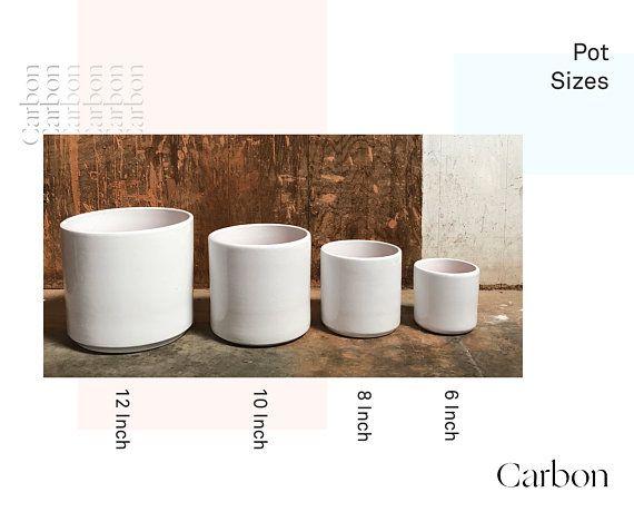 10 Inch Cylinder Pot Mid Century Planter Modern Planter Gainey Indoor Plant Pot 10 Inch Pla Mid Century Planter Indoor Plant Pots Terra Cotta Clay Pots