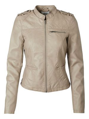 @Veronica MODA #Graphic #Leather  CLARA SHORT PU JACKET, Moon Rock, main