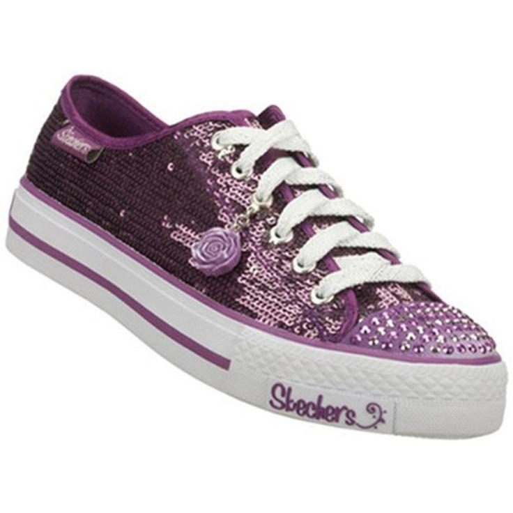 Skechers SK83275 Shuffles-Coronet Kids Trainers - Purple £32.95