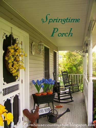 country porches | Country Farmhouse | Country Porch Decorating Ideas | Front Porch ...