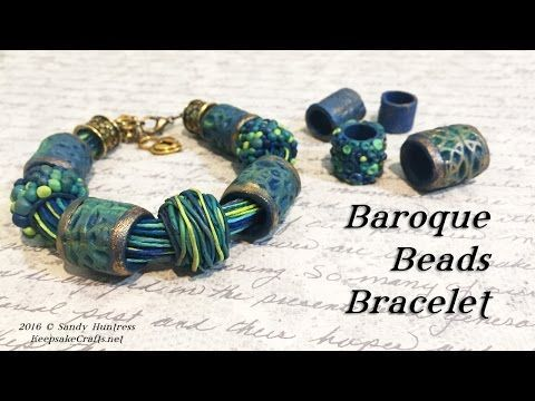 Learn how to make this richly textured and and lush tube bead bracelet out of polymer clay. Vary the colors, shapes and designs to make it uniquely your own....