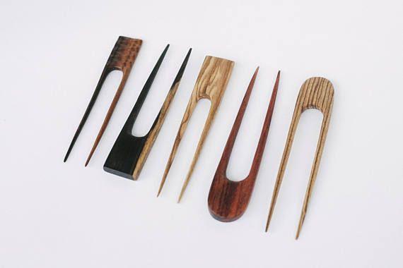 Деревянная шпилька для волос