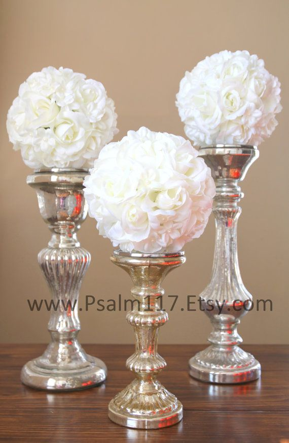 6 inch flower balls, rose and stephanotis flowers. $13 each. You choose ribbon color and style. www.Psalm117.Etsy.com