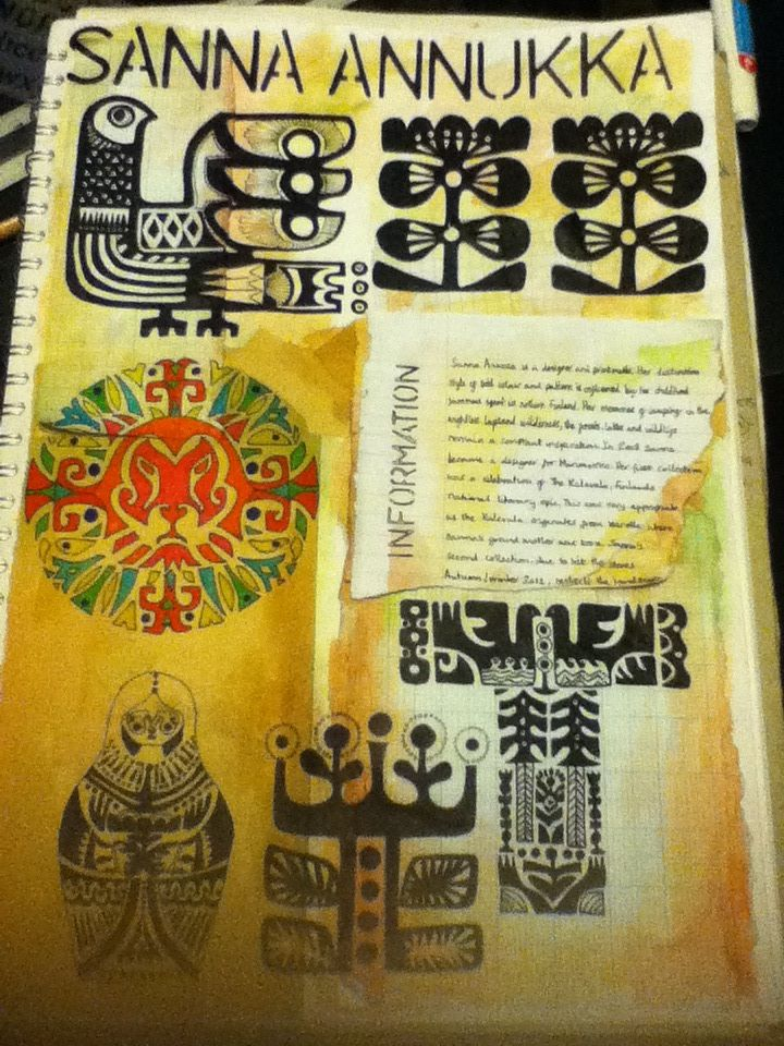 A2 graphics book page - artist research
