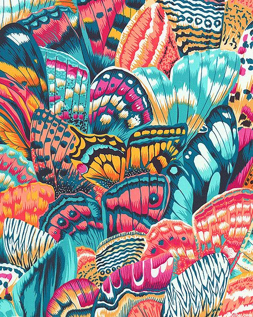 Natural World - Butterfly Wings - Teal