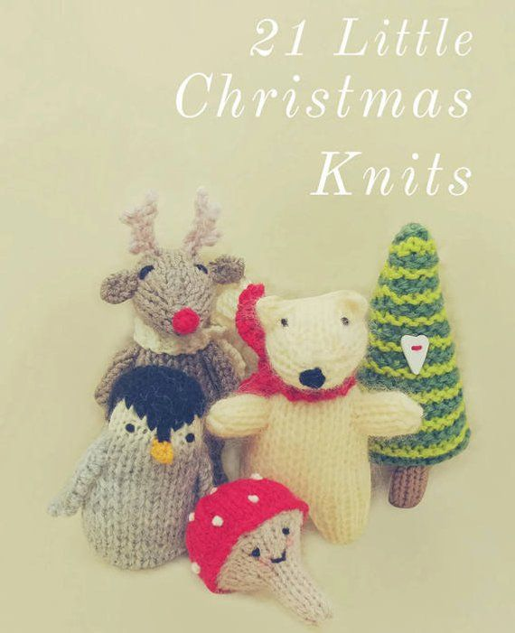 21 Christmas Knitting Pattern Decorations Ornaments Toys Gifts 21 ...