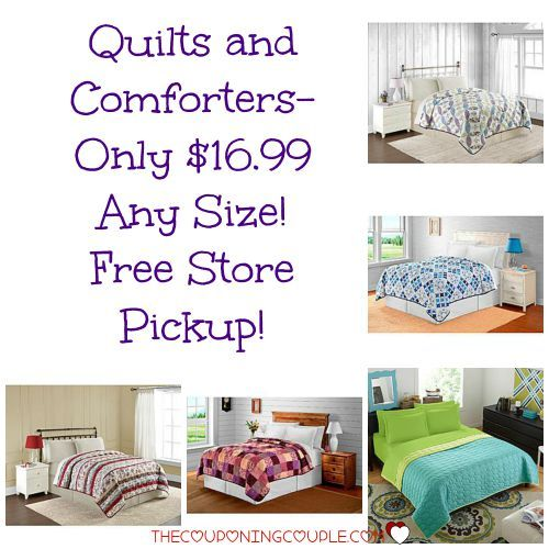 HOT DEAL!! Get ANY SIZE  Quilt or Comforter for only $16.99! Get FREE store pickup too!  Click the link below to get all of the details ► http://www.thecouponingcouple.com/quilts-and-comforters-only-16-99-kmart-free-store-pickup/  #Coupons #Couponing #CouponCommunity  Visit us at http://www.thecouponingcouple.com for more great posts!
