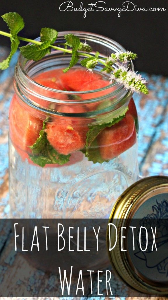 Want to help weight loss - this detox water will help boost your metabolism while getting rid of toxins! Flat Belly Detox Water Recipe #flatbelly #recipe #drink #detox #watermelon #mint #budgetsavvydiva via budgetsavvydiva.com
