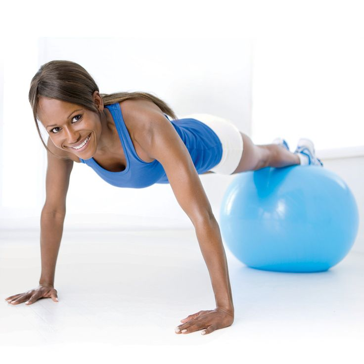 Compound moves benefit your whole body--big time: Exercise Routines?, Exerci Ball Workout, 2 In 1 Toner, Ball Workouts, Better Homes And Gardens, Exercise Ball Workout, Workout Exercises, Woman Health, Tones Exercise