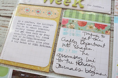 Love how Michelle Wooderson cut the grid journaling card & put it on top of patterned paper. The other piece she used as a tag in another slot. Love.: Grid Journals, Tops Patterns, Grid Cards, Project Life, P L Journals Printable, Life Scrapbook, Journals Cards, Patterns Paper, Projects Life