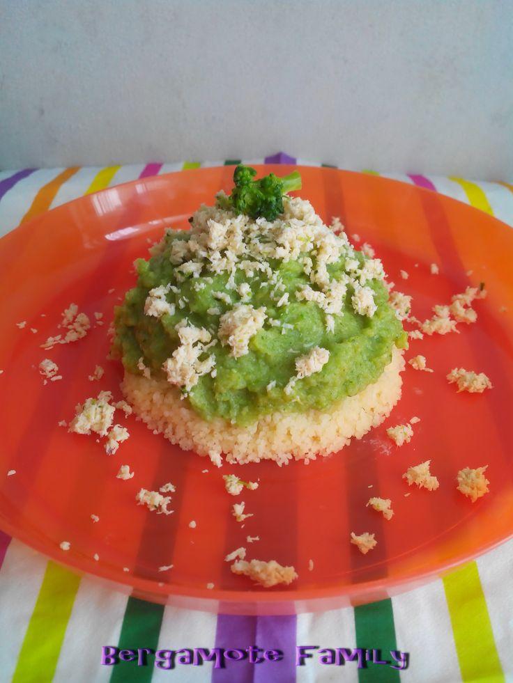 Couscous vert au poulet pour bébé (dès 8 mois) - Bergamote Family
