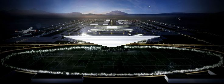 A look at JAHN + LOGUER + ADG's Mexico City International Airport competition proposal Image courtesy of JAHN.