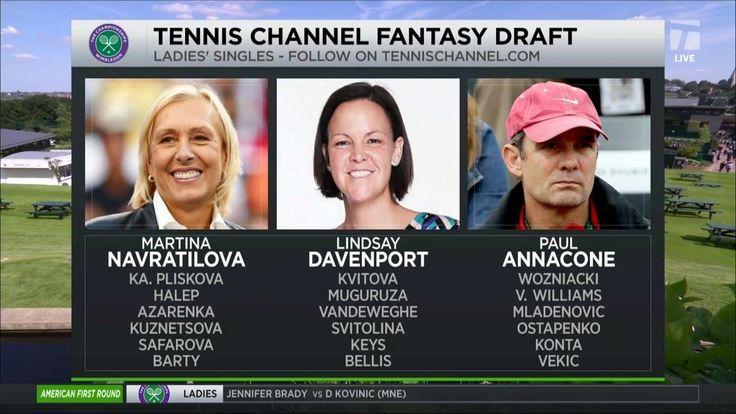Martina Navratilova, Lindsay Davenport, and Paul Annacone have made their Wimbledon WTA Fantasy Draft picks! 18 picks but no one picked the world No. 1 Angie Kerber