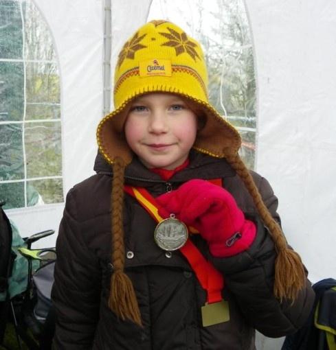 Olivia met haar zilveren medaille!