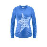 BELLYBUTTON Umstands Pullover VENNA capri blue melange #bellybutton #umstandspullover #pullover #umstandsmode #mode #schwangerschaft #baby #mommytobe
