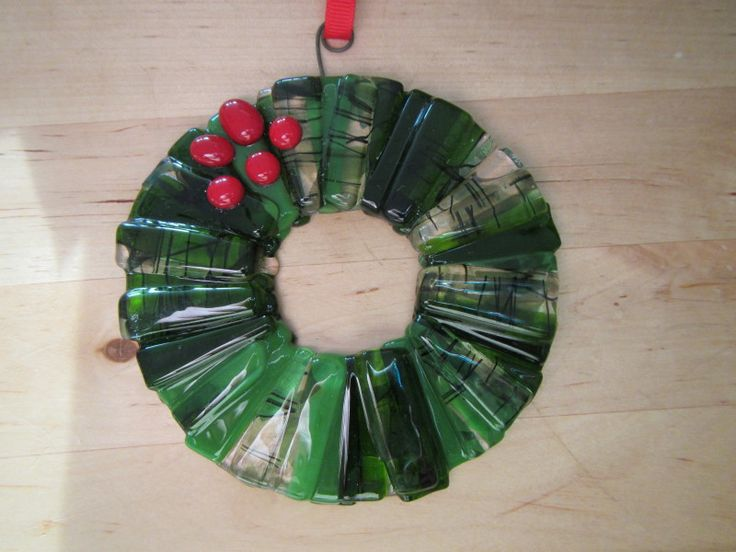 Fused Glass Christmas Ornament  Great way to use up scraps!
