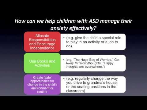 Anxiety and Autism Spectrum Disorders: Part 4