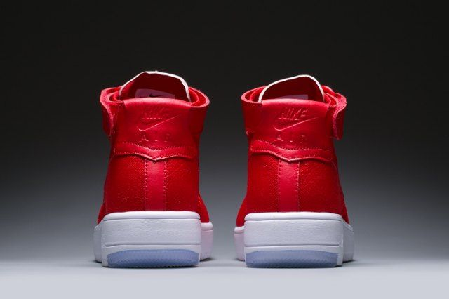 Nike Air Force 1 AF1 Ultra Flyknit High University Red White Sneakers shoes 818018 009