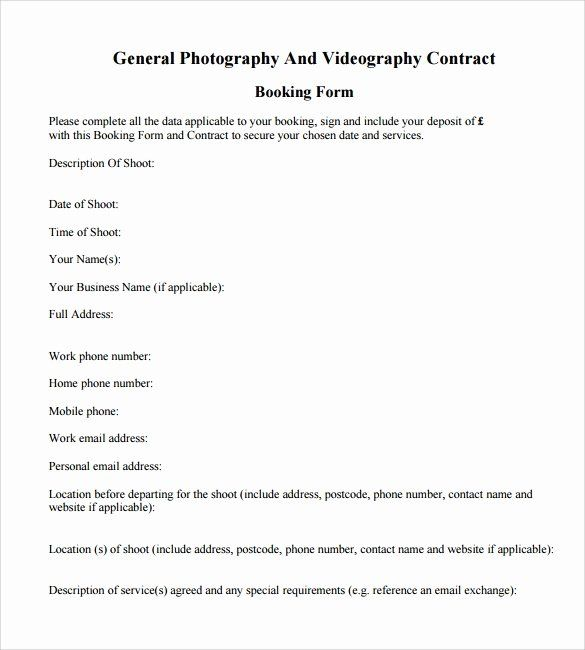 Sample Videography Contract Free Pdf Contract Template