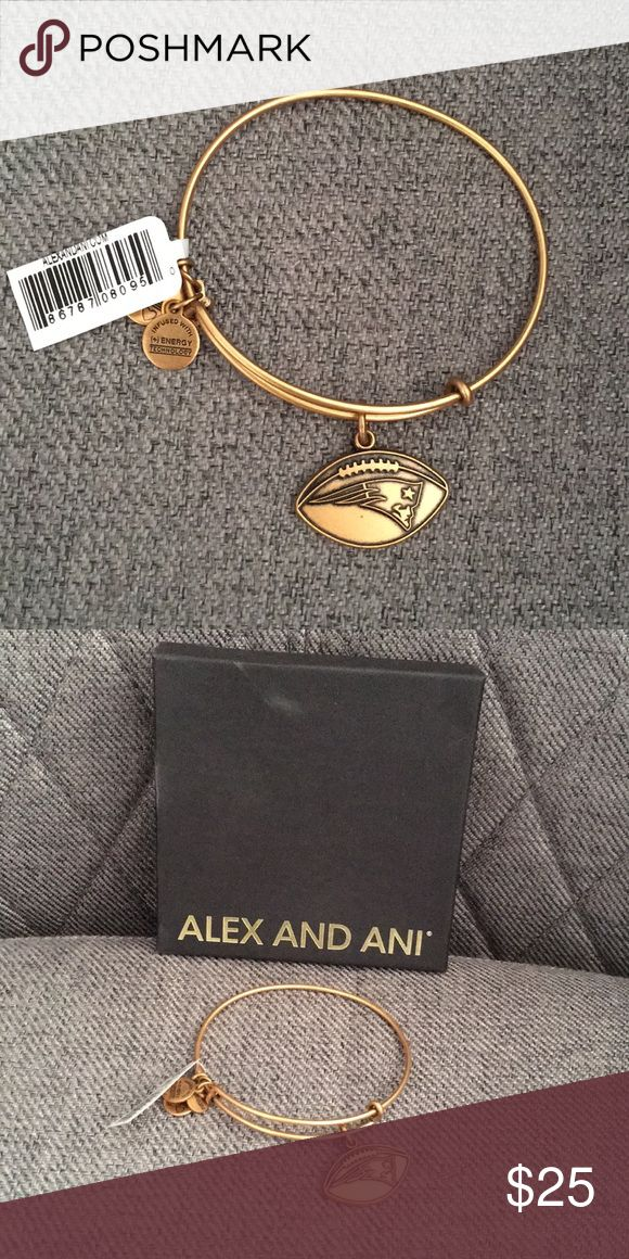 Alex and Ani New England Patriots Bracelet Alex and Ani New England Patriots Women's Football Logo Rafaelian Gold Finish Bracelet Alex & Ani Jewelry Bracelets