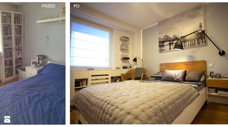 metamorfoza sypialni w bloku, styl minimalistyczny