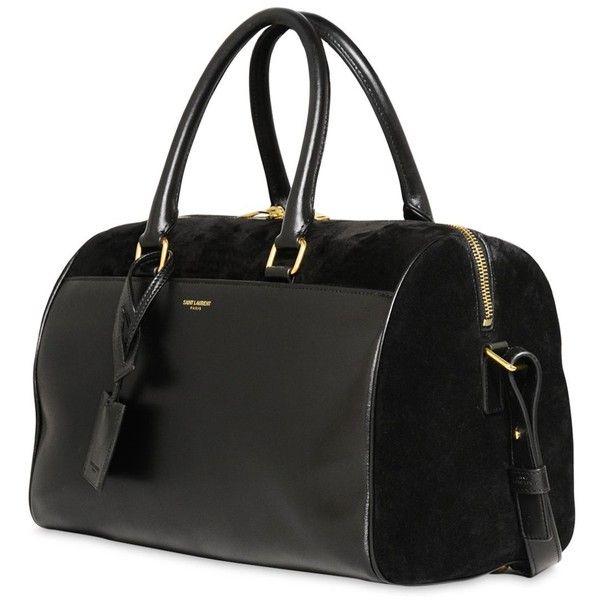 yves saint laurent bags online - SAINT LAURENT Duffle 6 Suede \u0026amp;Leather Top Handle Bag ($1,279 ...