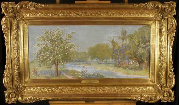 Rare Salt Lake Temple garden room painting found  John Hafen| Deseret News
