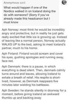 Nordic Headcanons