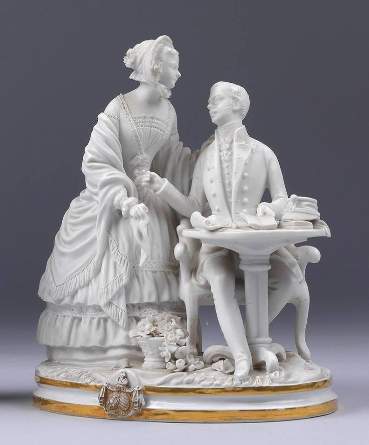 """kaiserinchantal: """" The porcelain figurines of the young married couple Emperor…"""