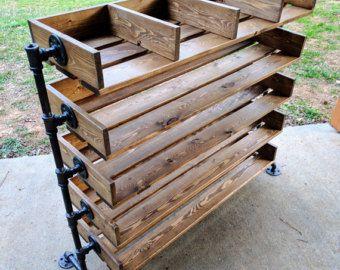 Handmade Reclaimed Wood Shoe Stand / Rack / Organizer with