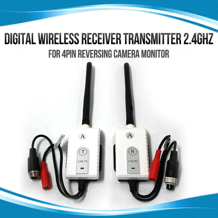 Digital Wireless Receiver Transmitter 2.4GHz for 4PIN Reversing Camera Monitor