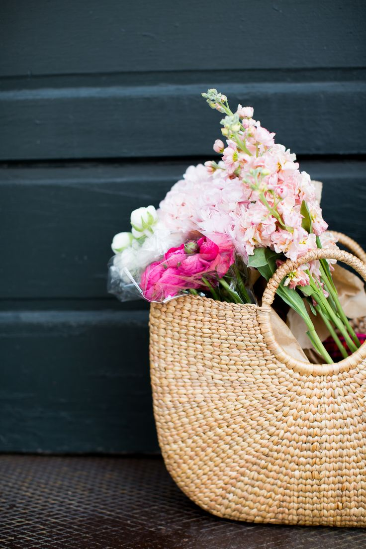 Pretty Basket Of Flowers